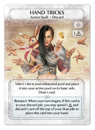 Card: Hand Tricks - Ashes live